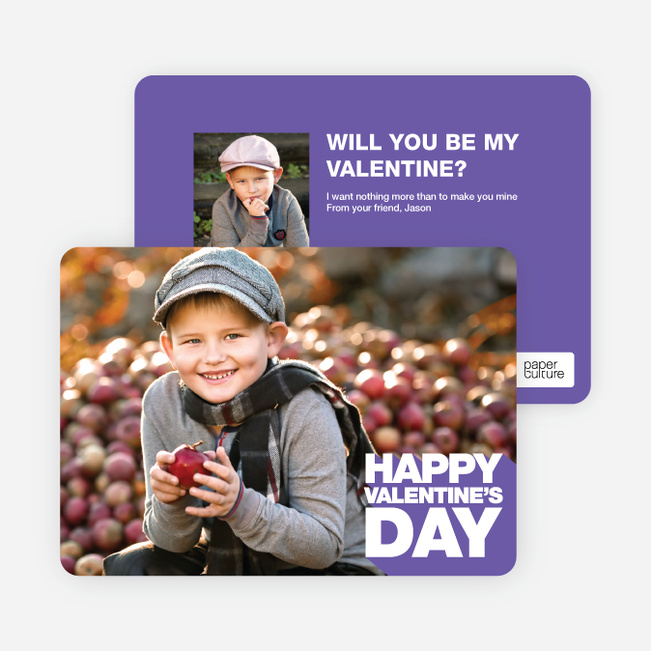 Bold Valentine's Day Cards - Purple