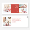 Boldly Modern Large Birth Announcements - Red
