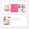 Boldly Modern Large Birth Announcements - Pink