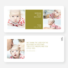 Boldly Modern Large Birth Announcements - Green