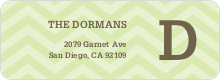 Chevron Pattern Labels - Green