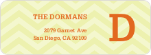 Chevron Pattern Labels - Yellow