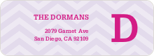 Chevron Pattern Labels - Purple