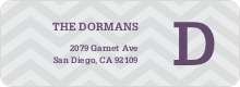 Chevron Pattern Labels - Gray