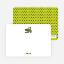 Classic Train Stationery - Green