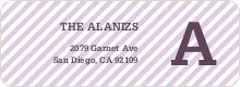 Diagonal Stripe Labels - Purple