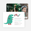 Dinosaur Modern Birthday Party Invitation - Aqua Green
