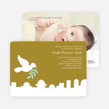 Dove Over Bethlehem Baptism Card - Olive