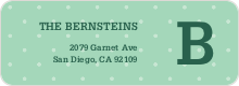 Eco Friendly Dot Pattern Return Address Labels - Green