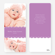 Elegant Birth Announcements - Purple