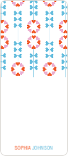 Flower Heart Gift Tags - Blue