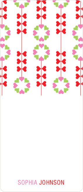 Flower Heart Gift Tags - Red
