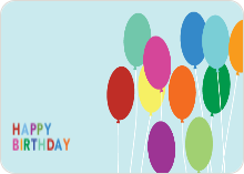 Happy Birthday Balloons - Blue