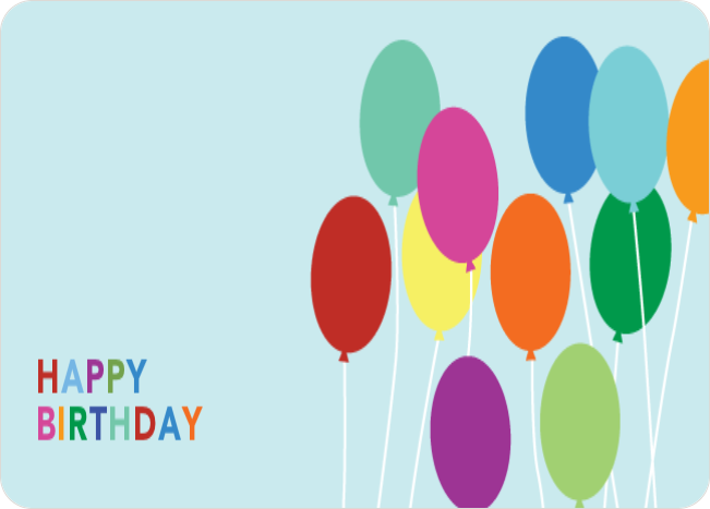 Happy Birthday Balloon Stickers - Blue
