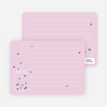 Jar of Hearts Stationery - Pink
