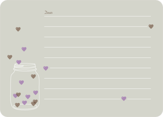 Jar of Hearts Stationery - Beige