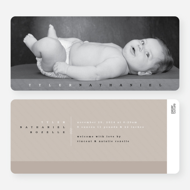 Modern Studio Birth Announcements - Brown