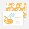 Modern Whale Spout Birthday Invitation - Orangsicle
