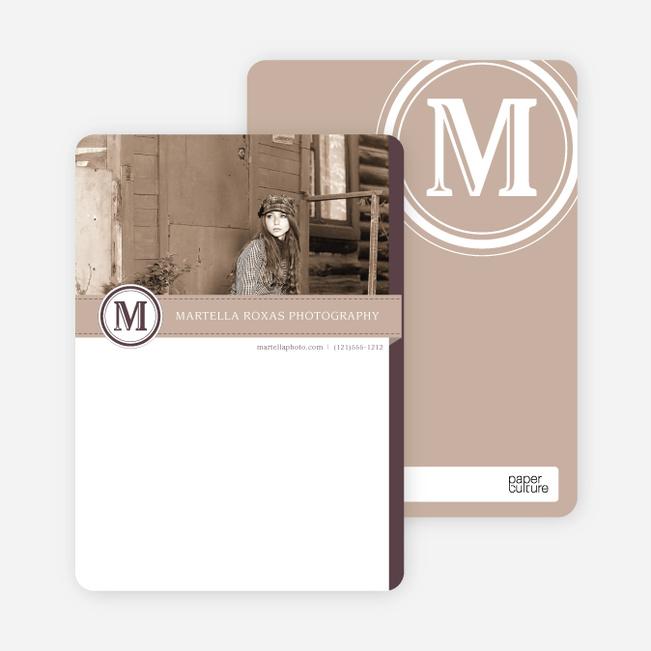 Monogram Photo Stationery - Beige