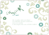 Morning Glory Wedding Shower Invites - Bamboo