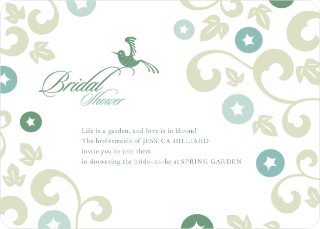 Morning Glory Wedding Shower Invitations - Bamboo