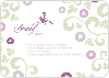 Morning Glory Wedding Shower Invitations - Magenta