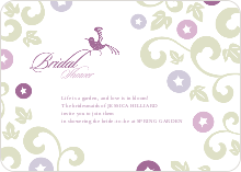 Morning Glory Wedding Shower Invites - Magenta