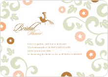 Morning Glory Wedding Shower Invites - Bronze