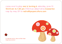 Mushroom Patch Modern Birthday Invitation - Mushroom Brown