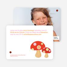 Mushroom Patch Modern Birthday Invitation - Mushroom Brown