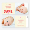 Nice A** Donkey Themed Birth Announcements - Red
