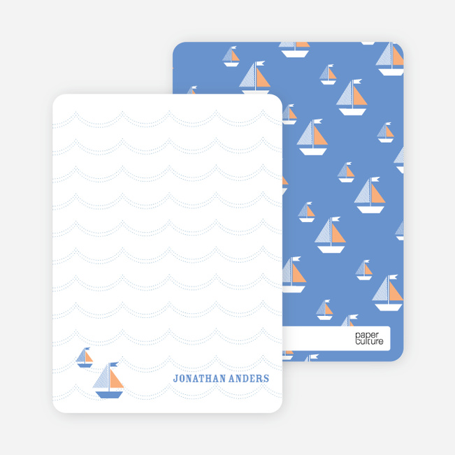 Not America's Cup, But Some Fine Sailing Stationery - Orange