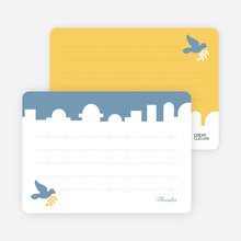Note Cards: 'Dove Over Bethlehem' cards. - Blue