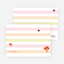 Note Cards: 'Mushroom Patch' cards. - Mushroom Brown
