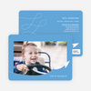 Paper Airplane Birthday Party Invitations - Blue