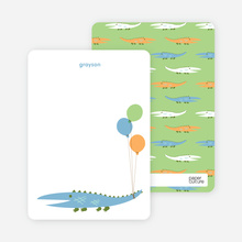 Later Alligator: Personal Stationery - Dusty Blue