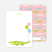 Later Alligator: Personal Stationery - Chartreuse