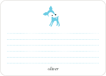 Dear Deer: Personal Stationery - Turquoise