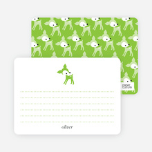 Dear Deer: Personal Stationery - Apple Green