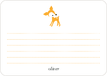 Dear Deer: Personal Stationery - Pumpkin