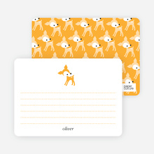 Personal Stationery for Blue Deer 1st Birthday Invitation - Pumpkin