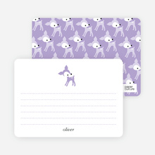 Personal Stationery for Blue Deer 1st Birthday Invitation - Periwinkle