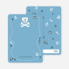 Pirate Loot: Personal Stationery - Powder Blue