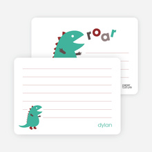 One Hot Dinosaur: Personal Stationery - Teal