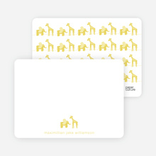 Jungle Fun Baby Announcement: Personal Stationery - Lemon Yellow