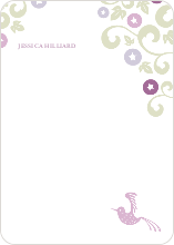 Morning Glory Wedding Shower Invites: Personal Stationery - Magenta
