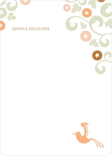 Personal Stationery for Morning Glory Wedding Shower Invitations - Apricot