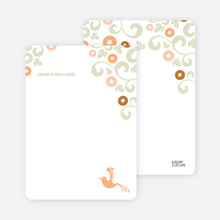 Morning Glory Wedding Shower Invites: Personal Stationery - Apricot