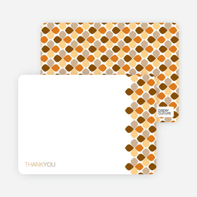 Personal Stationery for Moroccan Stained Glass Invitation - Tangerine