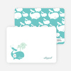 Personal Stationery for Whale Spout Modern Birthday Invitation - Azure